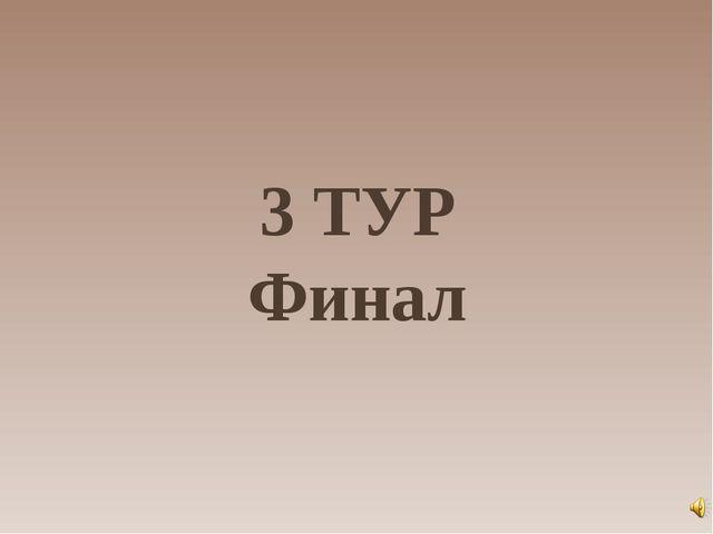 3 ТУР Финал