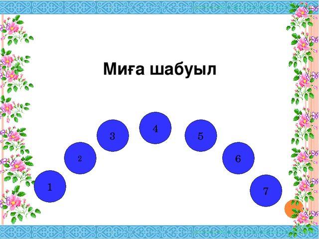 Миға шабуыл И Н Е Т Р Н 2 1 3 4 5 6 Е 7