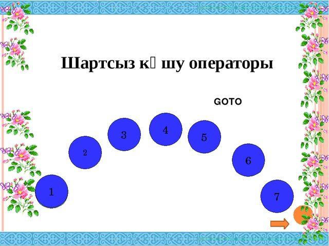 GOTO Г Р Ф А И К 2 1 3 4 5 6 А 7 Шартсыз көшу операторы