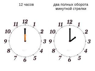 12 часов два полных оборота минутной стрелки