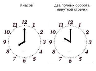 8 часов два полных оборота минутной стрелки