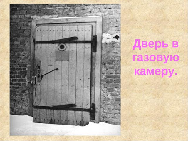 Дверь в газовую камеру. Дверь в газовую камеру.