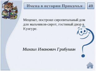 Михаил Иванович Грибушин Меценат, построил сиропитальный дом для мальчиков-си