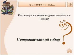 Петропавловский собор Какое первое каменное здание появилось в Перми?