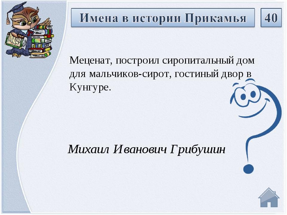 Михаил Иванович Грибушин Меценат, построил сиропитальный дом для мальчиков-си...
