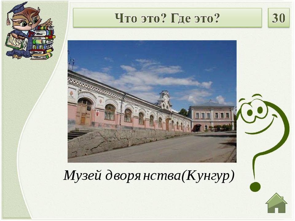 Музей дворянства(Кунгур)