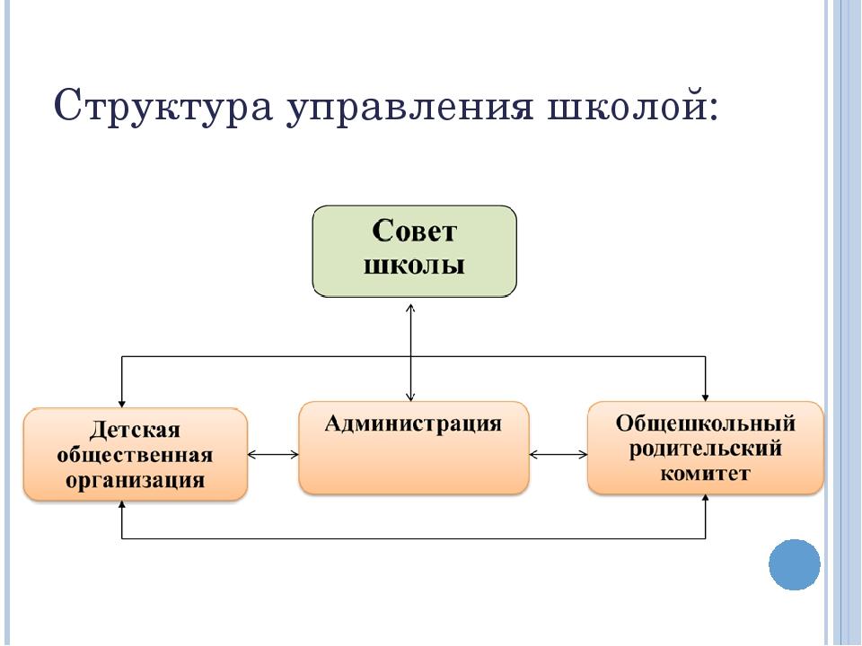 Структура управления школой: