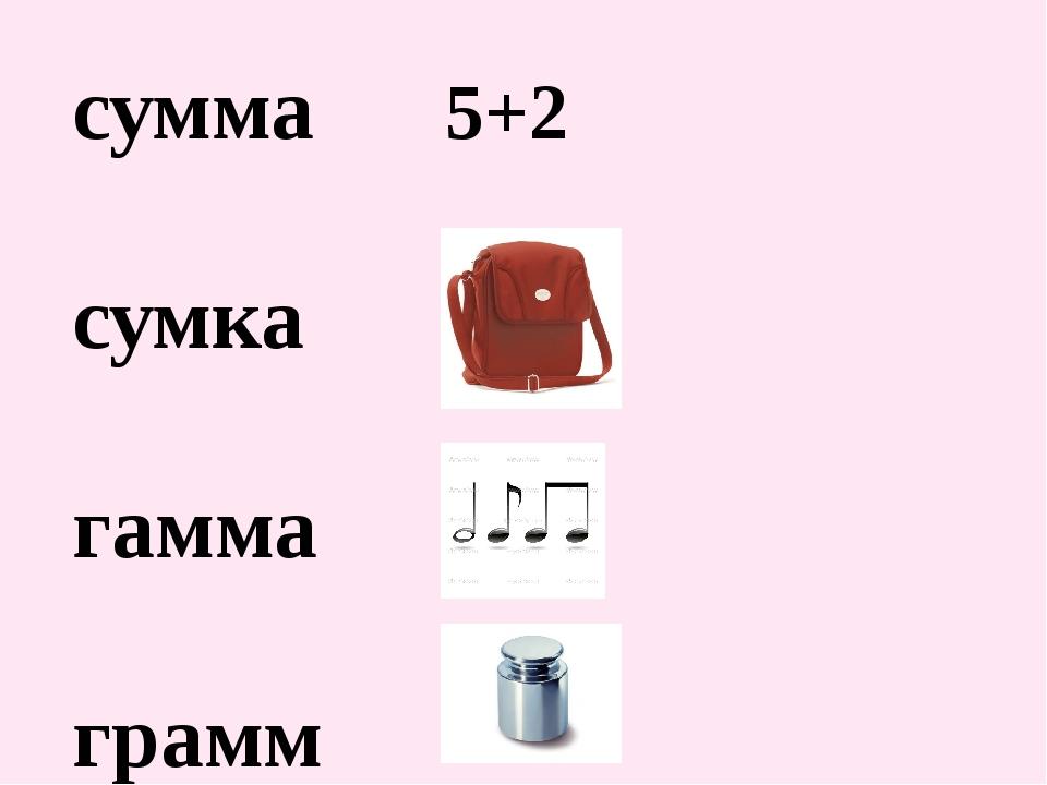 сумма 5+2 сумка гамма грамм