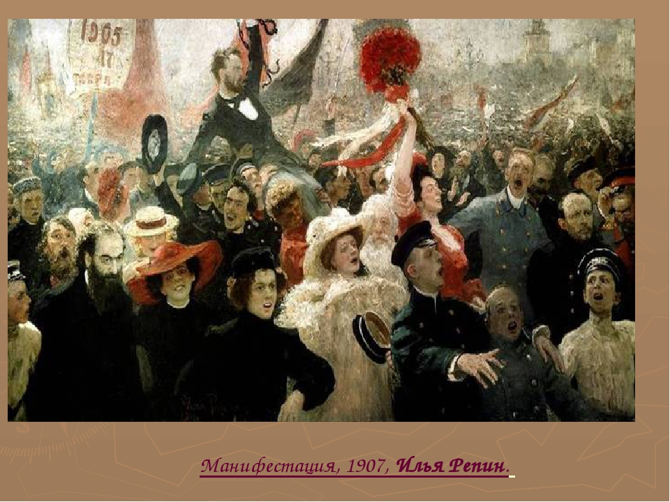 Манифестация, 1907, Илья Репин.