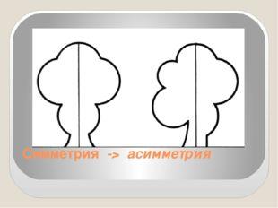 Симметрия -> асимметрия