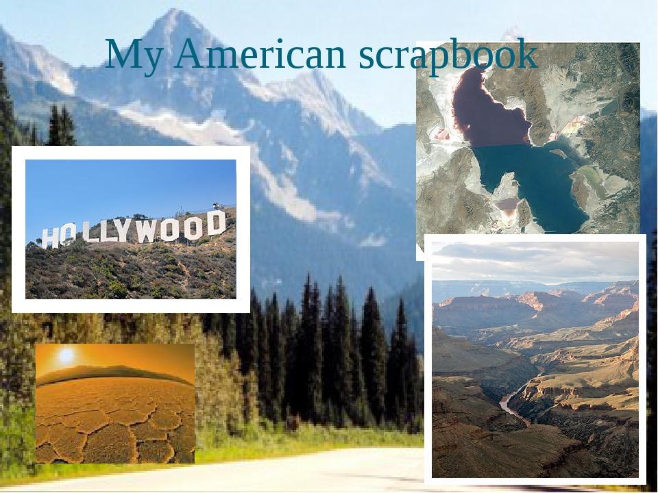 My American scrapbook