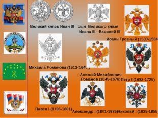 Великий князь Иван III сын Великого князя Ивана III - Василий III Иоанн Грозн