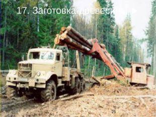 17. Заготовка древесины ►