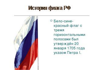 Бело-сине-красный флаг с тремя горизонтальными полосами был утверждён 20 янва