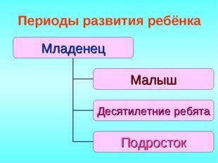 Периоды развития ребёнка