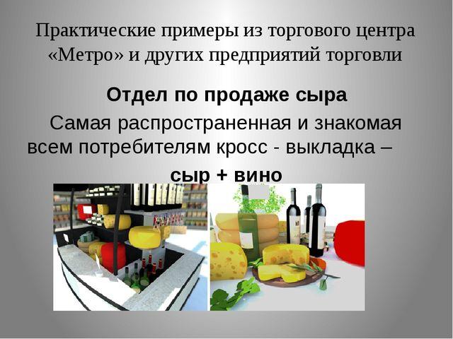 Практические примеры из торгового центра «Метро» и других предприятий торговл...