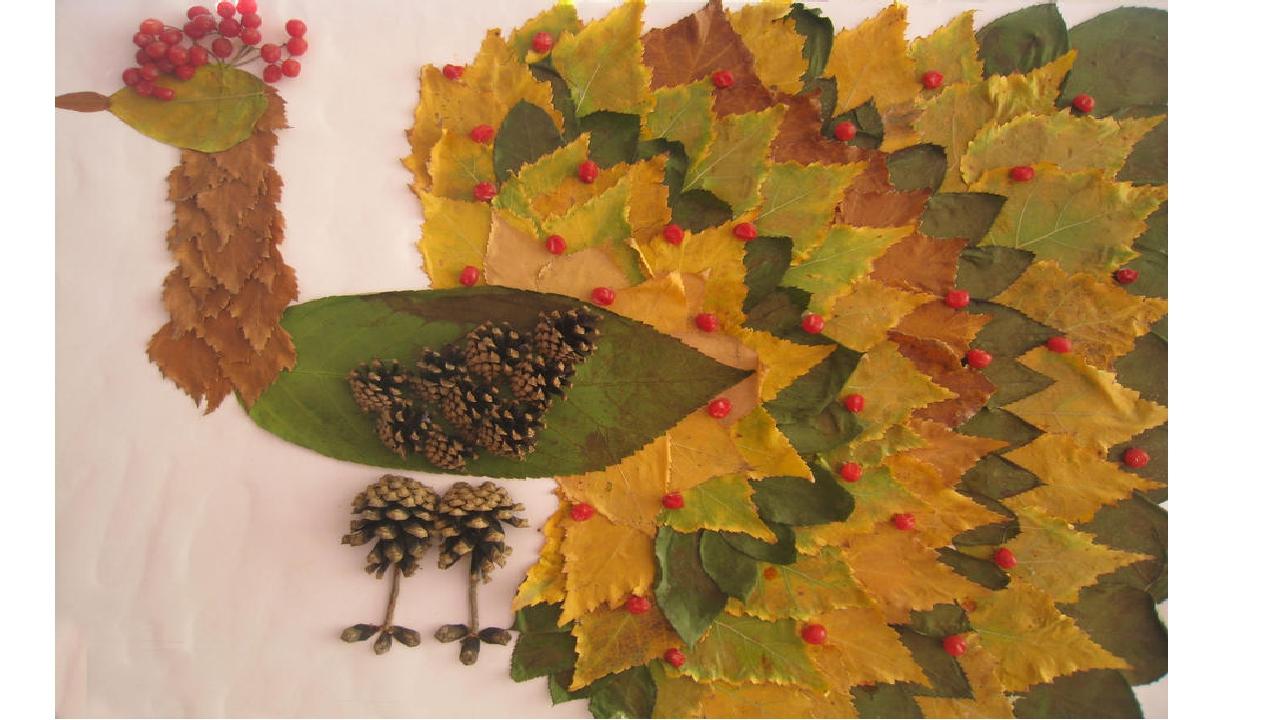 Фото поделки с листьями осенними