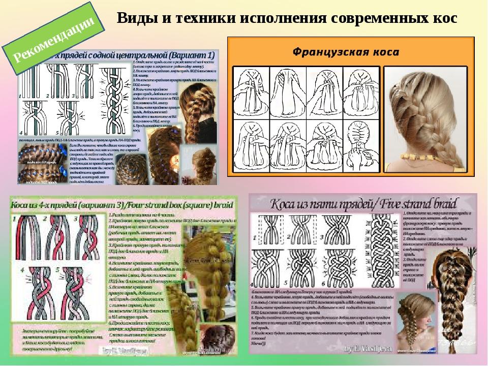 Виды и техники исполнения современных кос Рекомендации
