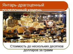 Янтарь-драгоценный поделочный камень Стоимость до нескольких десятков долларо