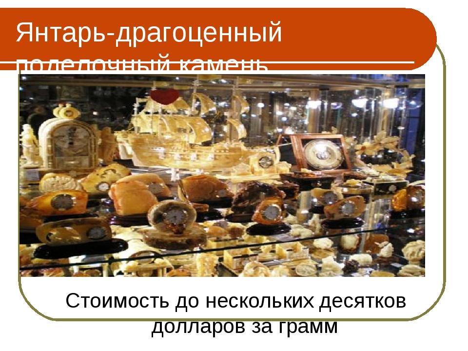 Янтарь-драгоценный поделочный камень Стоимость до нескольких десятков долларо...