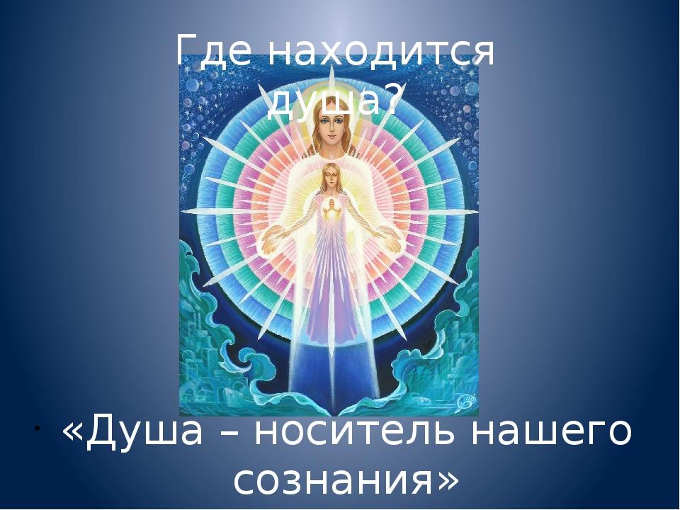 Где находится душа? «Душа – носитель нашего сознания»