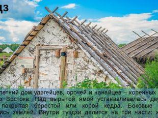 Туэдзи уэдзи – летний дом удэгейцев, орочей и нанайцев – коренных народов Дал