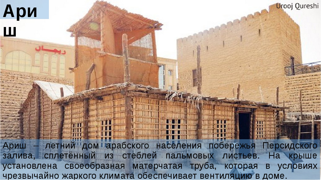 Ариш Ариш – летний дом арабского населения побережья Персидского залива, спле...