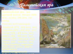 Палеозойская эра Палеозойская эра - эра древней жизни. Начало 4600 млн., коне