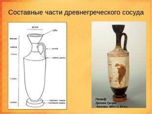 Составные части древнегреческого сосуда Лекиф Древняя Греция Аттика. 440-е гг