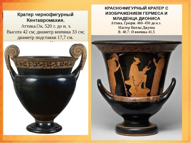 "КРАТЕ́Р (греч. krater, от kerannymi — ""смешиваю"") — древнегреческий сосуд д..."