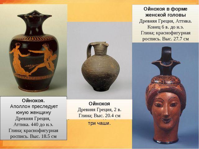 ойнохои ОЙНОХОЯ     (от греч.oinos- вино,cheo- лью) - древнегреческ...