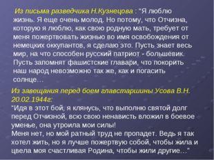 """Из письма разведчика Н.Кузнецова : """"Я люблю жизнь. Я еще очень молод. Но пот"""