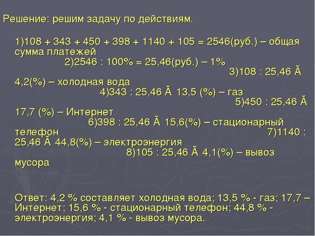 Решение: решим задачу по действиям. 1)108 + 343 + 450 + 398 + 1140 + 105 = 2...