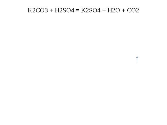 K2CO3 + H2SO4 = K2SO4 + H2O + CO2
