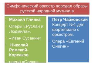 Симфонический оркестр передал образы русской народной музыки в произведениях