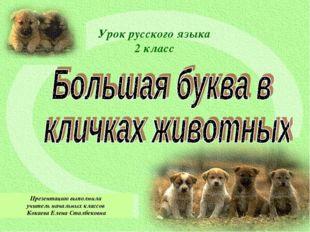 Урок русского языка 2 класс Презентацию выполнила учитель начальных классов К