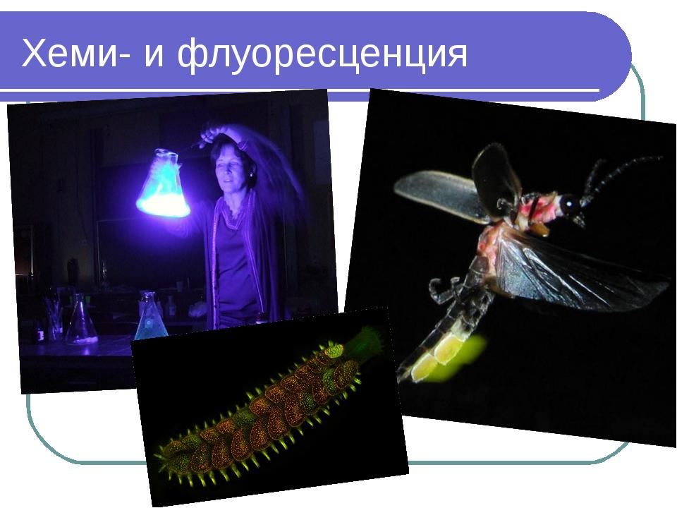 Хеми- и флуоресценция