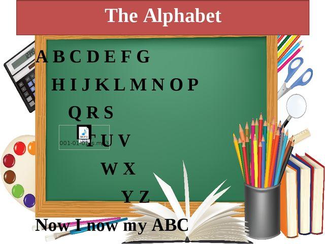 The Alphabet A B C D E F G H I J K L M N O P Q R S T U V W X...