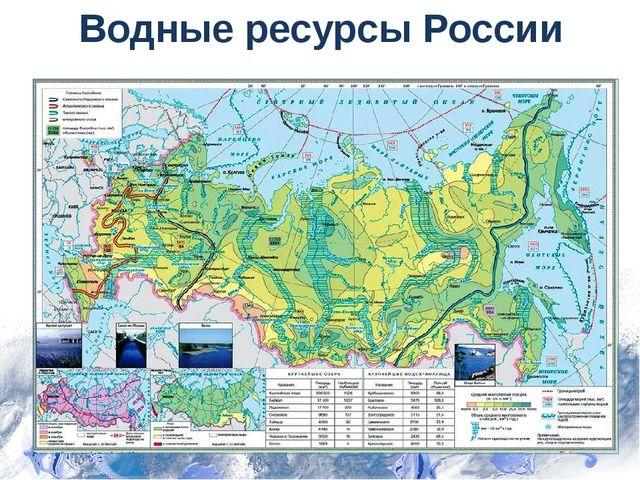 Водные ресурсы России