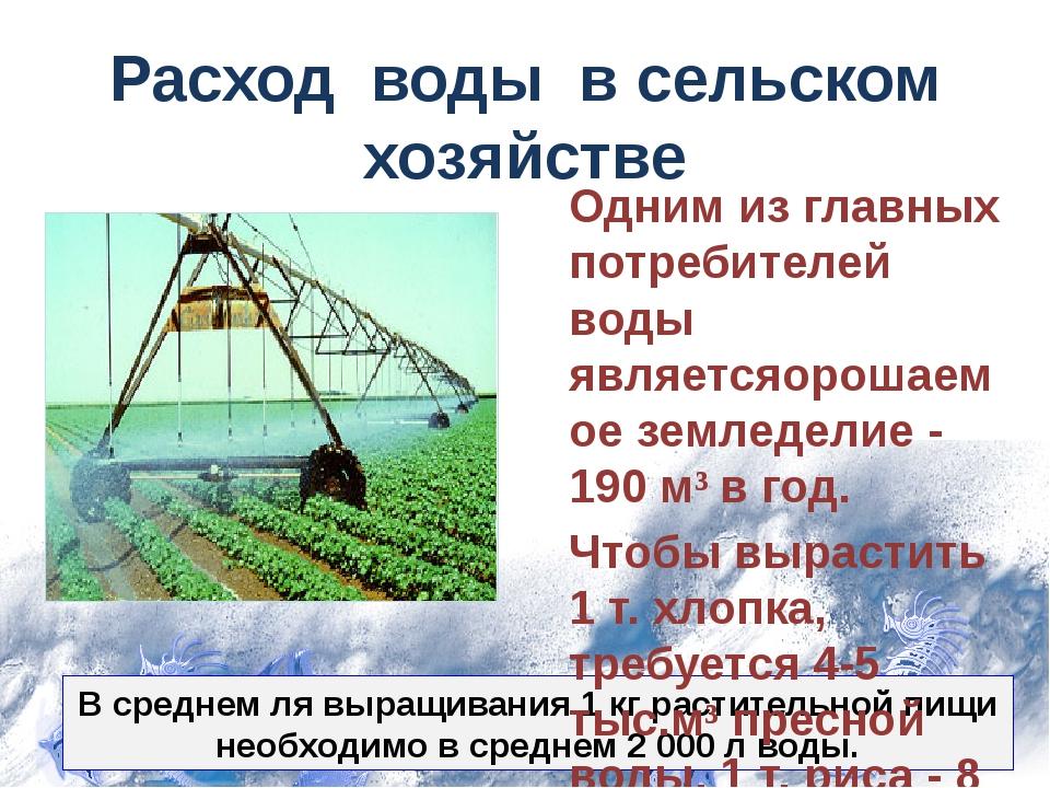 В среднем ля выращивания 1 кг растительной пищи необходимо в среднем 2 000 л...