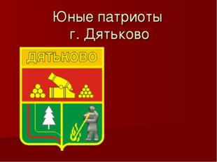 Юные патриоты г. Дятьково