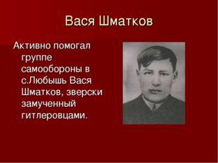 Вася Шматков Активно помогал группе самообороны в с.Любышь Вася Шматков, звер