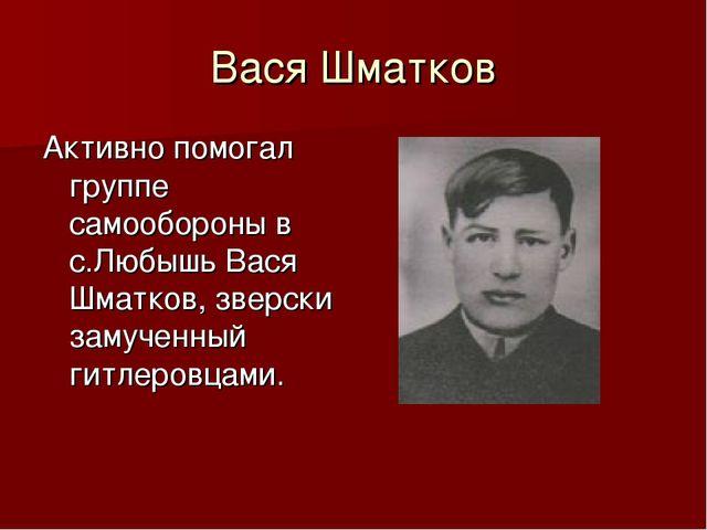 Вася Шматков Активно помогал группе самообороны в с.Любышь Вася Шматков, звер...