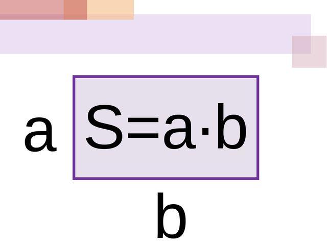 S=a∙b a b