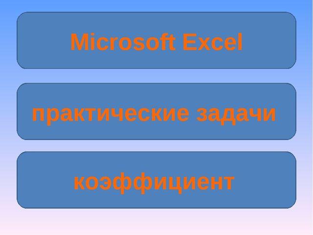 Microsoft Excel практические задачи коэффициент