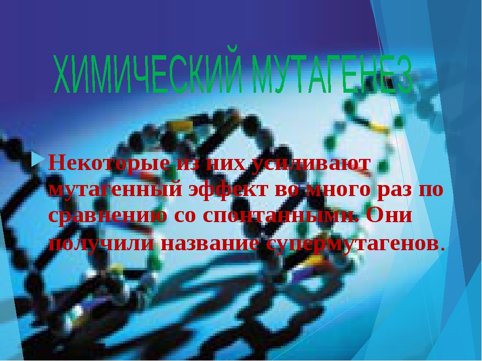 Некоторые из них усиливают мутагенный эффект во много раз по сравнению со спо...