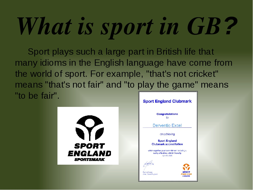 What is sport in GB? Sport plays such a large part in British life that many...
