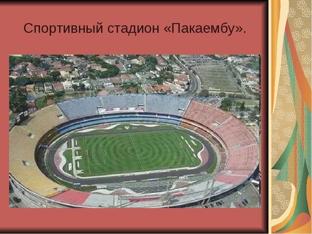Спортивный стадион «Пакаембу».