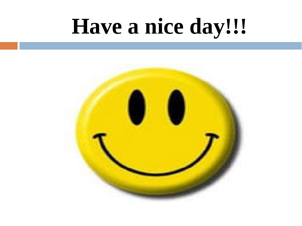 Have a nice day!!!