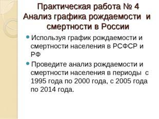 Практическая работа № 4 Анализ графика рождаемости и смертности в России Испо